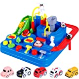 Car Adventure Toy, City Rescue Preschool Educational Rail Car, Parent-Child Interactive Racing Kids Toy, Puzzle Car…