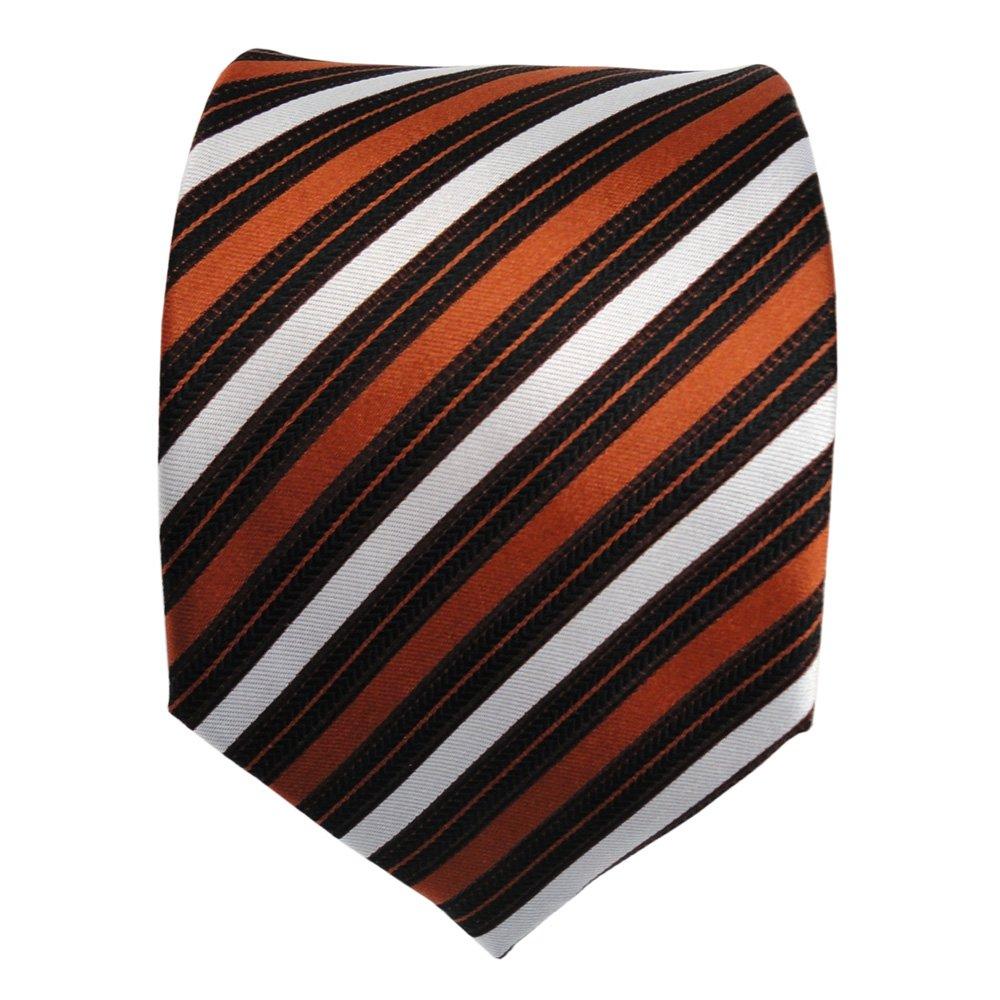ohne Markenname Diseñador corbata de seda - marrón cobre plata ...