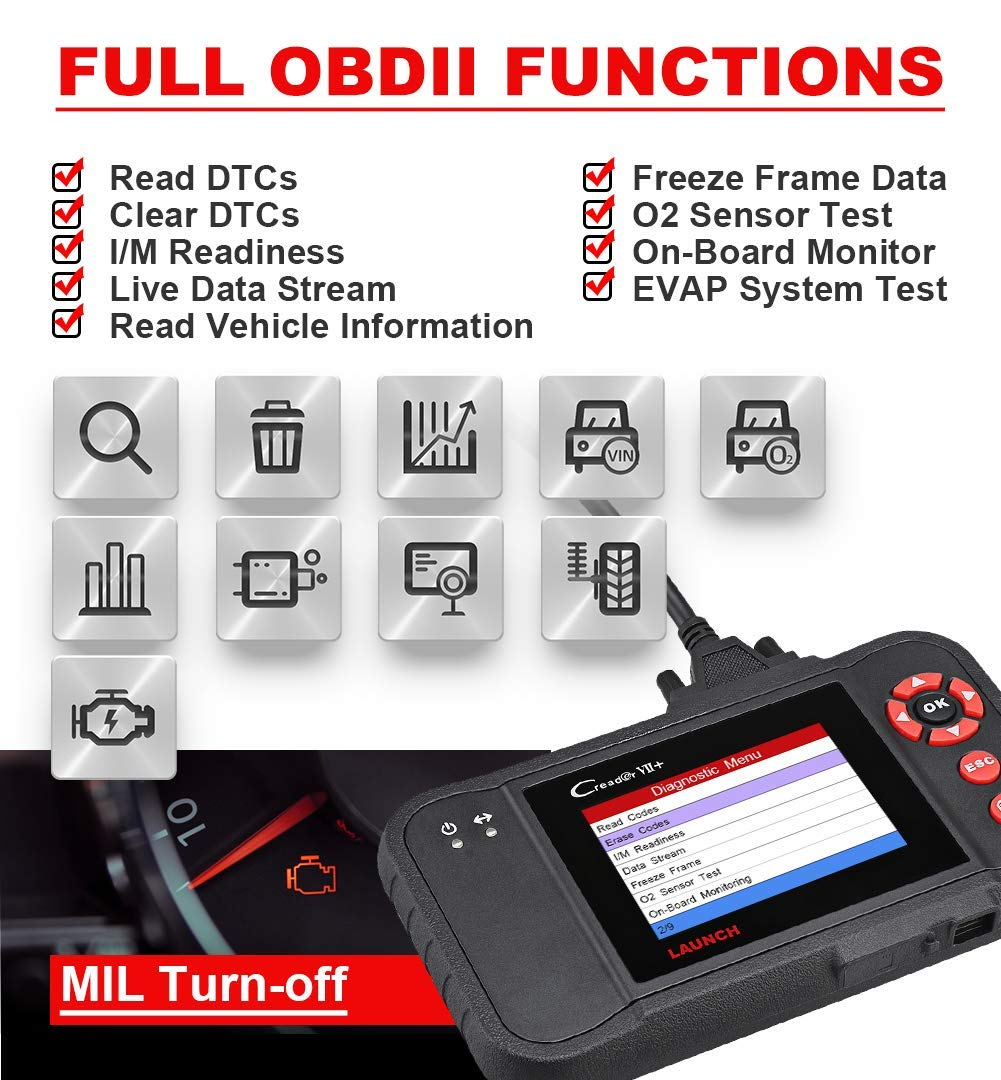 LAUNCH CR VII+ X431 Herramienta de Diagnosis Multimarca OBD2 ...