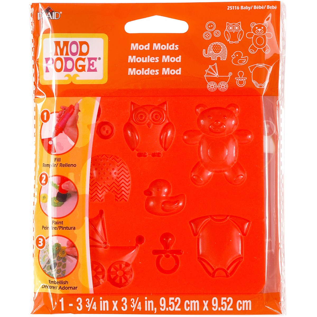 Mod Podge Mod Mold (3-3/4 by 3-3/4-Inch), 25116