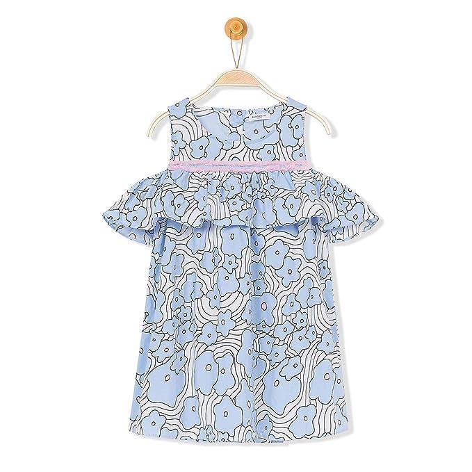 Amazon.com: Vestido de hombro abierto para niñas con ...