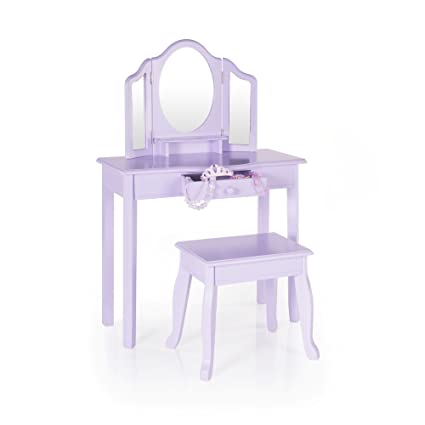 Amazon Com Guidecraft Vanity And Stool Lavender Children S Table