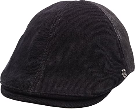 05998984b15 sujii CORDUROY Newsboy Beret Flat Cap Cabbie Driver Hat Ivy Cap  Black