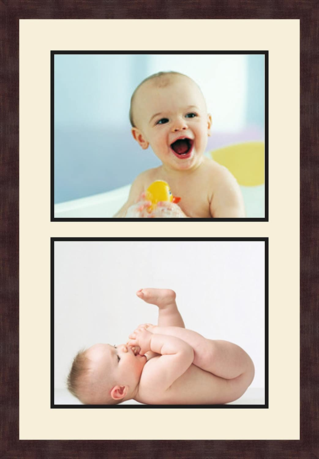 Art to Frames Double-Multimat-49-594//89-FRBW26061 Collage Frame Photo Mat Double Mat with 2-11x14 Openings and Espresso Frame