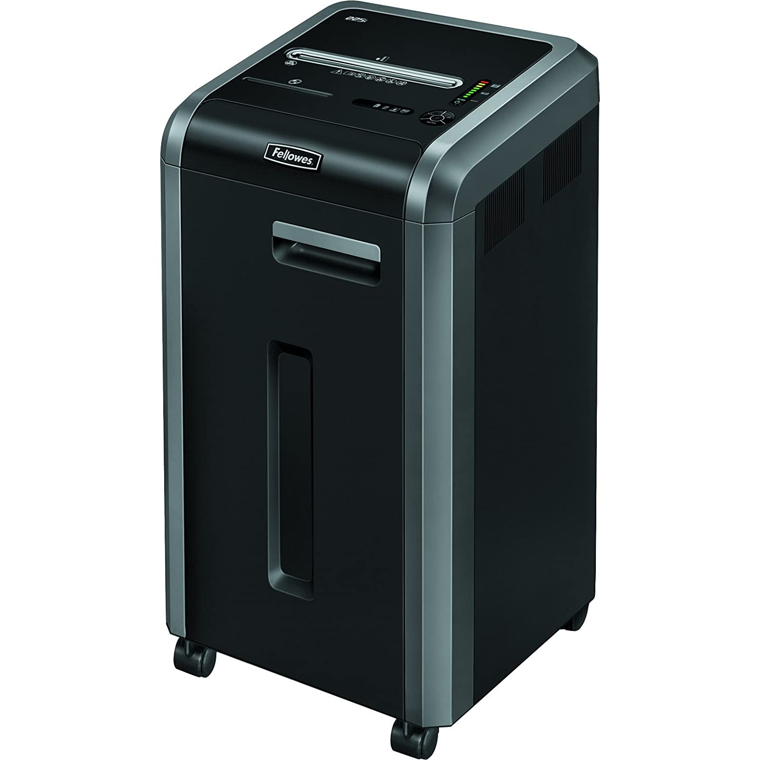 Fellowes Powershred 225i 100% Jam Proof 22-Sheet Strip-Cut Commercial Grade Paper Shredder (3322001)