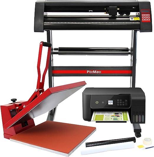 PixMax Prensa de Calor Maquina de Prensa de Calor Máquina de la sublimación de la transferencia de la prensa del calor de la camiseta, uso para industrial | 50cm x 50xcm |