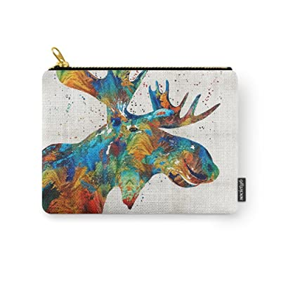 Society6 Colorful Moose Art - Confetti - By Sharon Cummings Carry-All Pouch