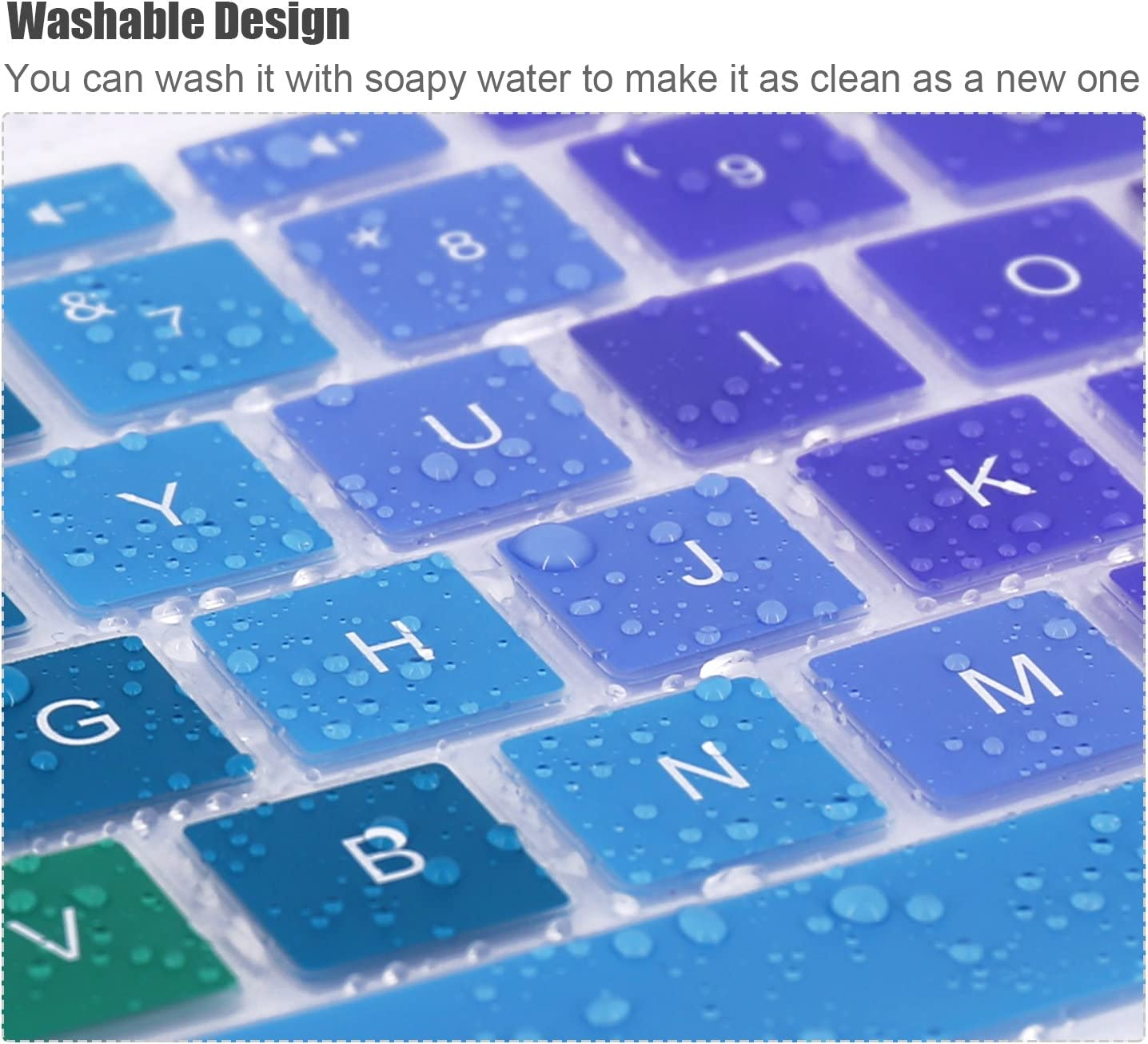 Rainbow Keyboard Cover Compatible HP Stream 14 Inch Laptop //2018 2017 HP Stream 14 Inch //14 Inch HP Pavilion 14-ab 14-ac 14-ad 14-al 14-an Series