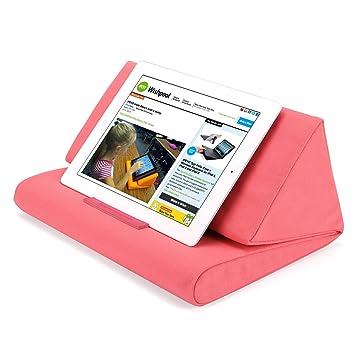 Almohada de Apoyo IPEVO PadPillow para Todas Las Generaciones de iPad Air, iPad Mini, iPad 4, iPad 3, iPad 2, iPad 1, Nexus y Galaxy - Rosa