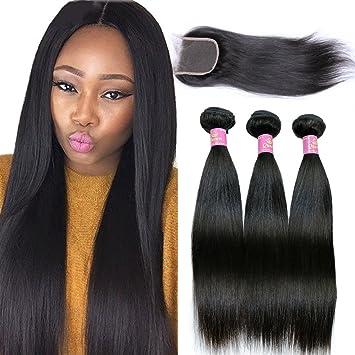 Strange Amazon Com Goldfinch Hair Brazilian Virgin Straight Hair Weave 3 Hairstyle Inspiration Daily Dogsangcom
