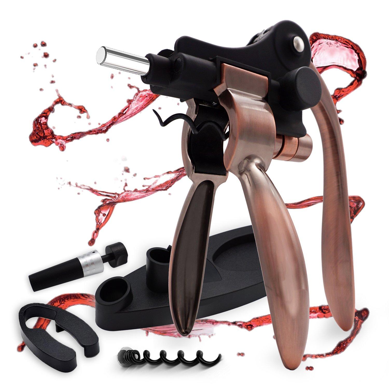 Black Electric Wine Bottle Opener Corkscrew Champagne Bottle Opener Kit JF#E