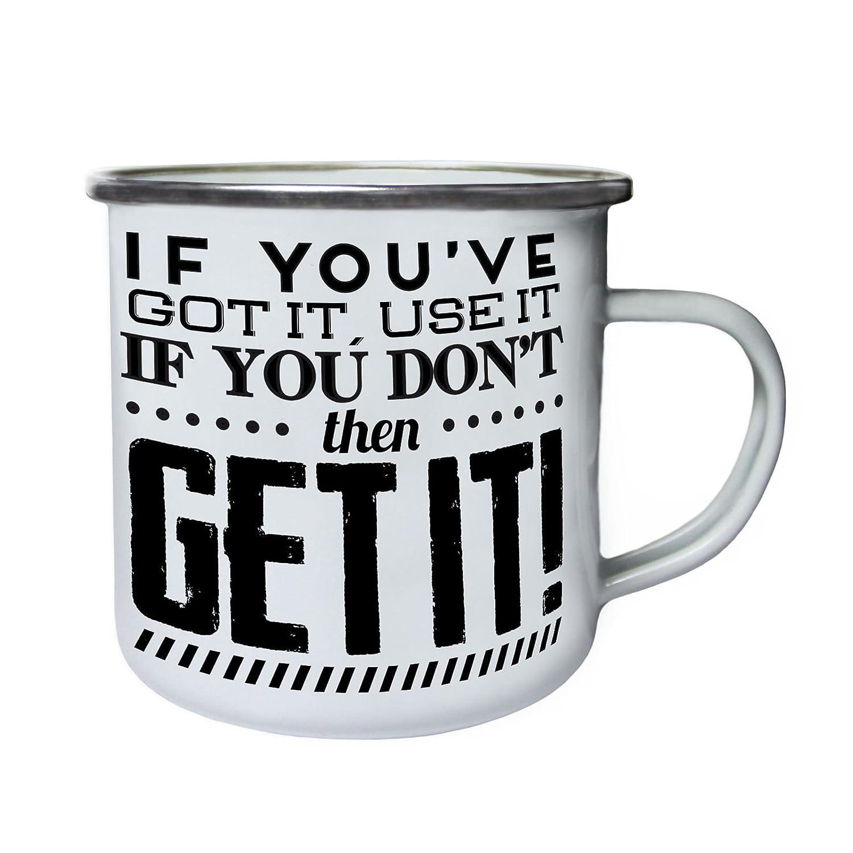 Si lo tienes, úsalo o consíguelo Retro, lata, taza del esmalte 10oz/280ml y131e úsalo o consíguelo Retro INNOGLEN