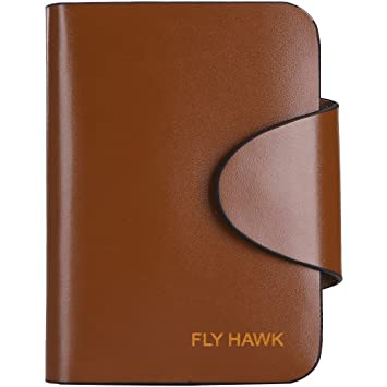FlyHawk Best RFID - Monedero de piel para hombre marrón vertical - coffee: Amazon.es: Ropa y accesorios
