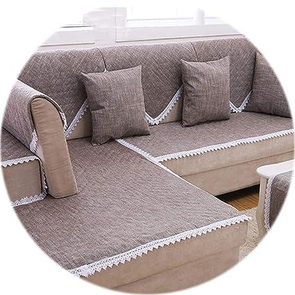 Amazon.com: HANBINGPO Camel Sofa Cover lace Decor Cotton ...