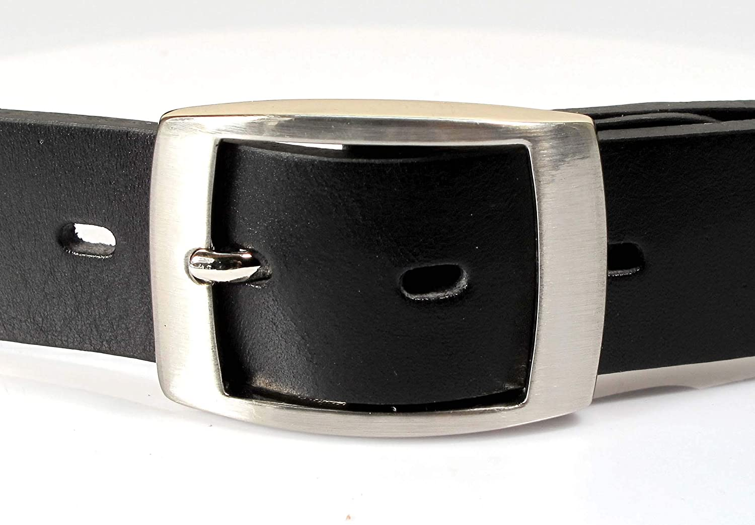 UM3 Mens Real Genuine Leather Black Belt 1.25 Wide S-XL Thick Long Casual Jeans