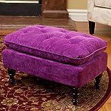 Best Selling Velvet Tufted Ottoman, Purple