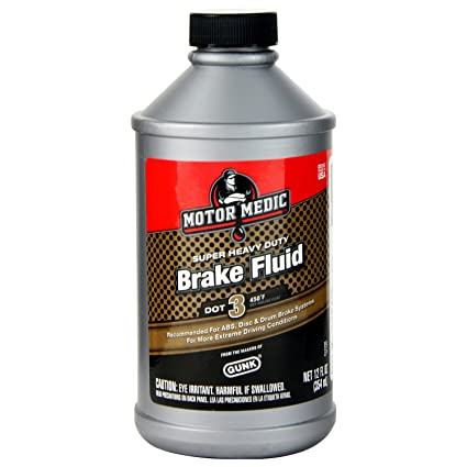 Niteo Motor Medic M4312 DOT 3 Super Heavy Duty Brake Fluid - 12 oz.
