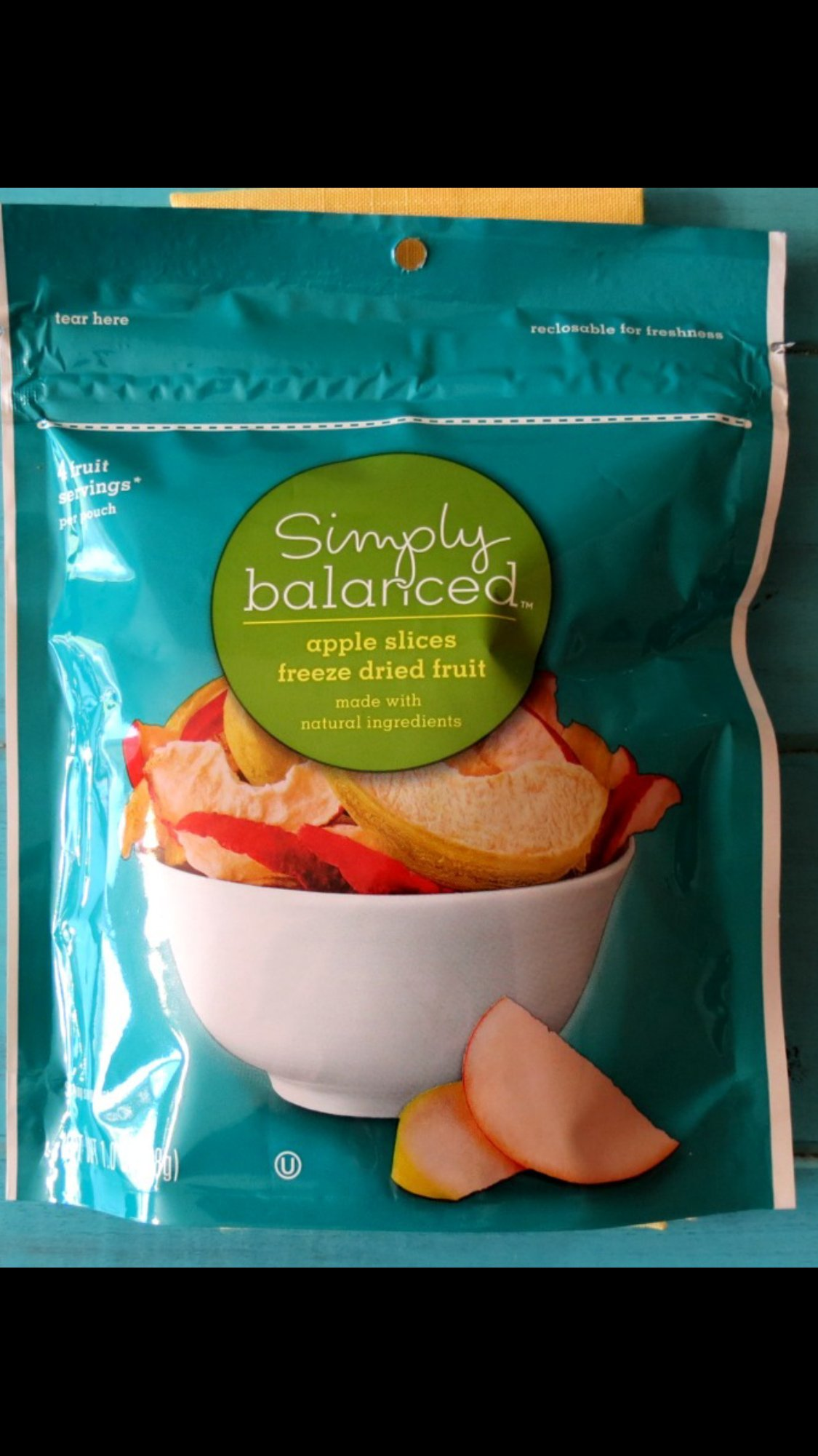 Simply Balanced Apple Slices Freeze-Dried Fruit Made With Natural Ingredients 5 Fruit Servings Per Bag