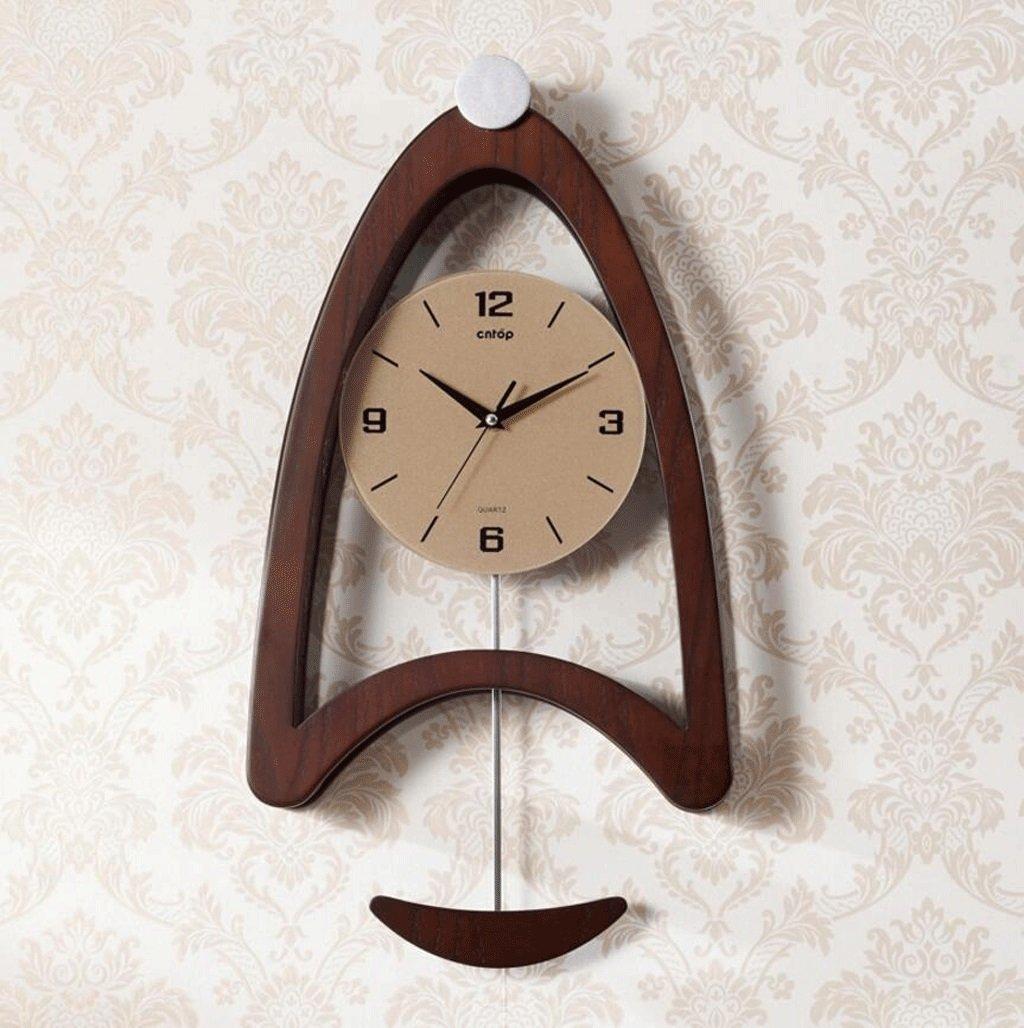 TXXM® スキャンミュートクリエイティブハンドメイドハンギングクロックベッドルームリビングルームCreative Pendulum Clock (色 : B) B07F41MTGSB