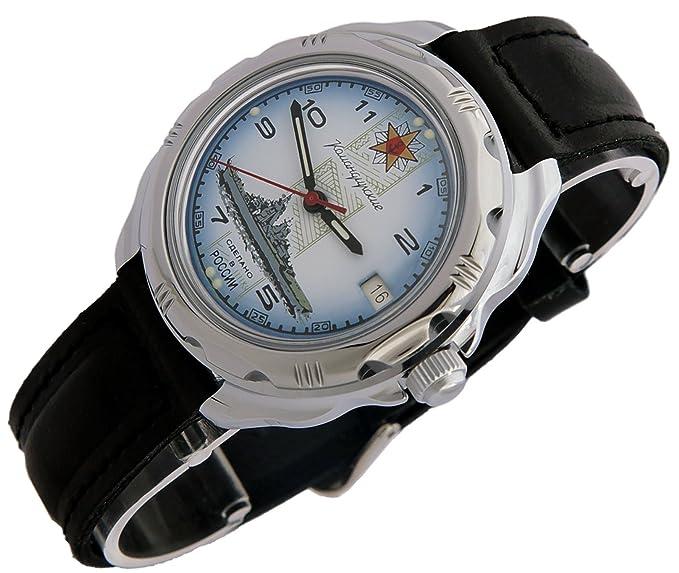 Vostok KOMANDIRSKIE 211428/2414 a las fuerzas especiales de la marina militar ruso reloj blanco