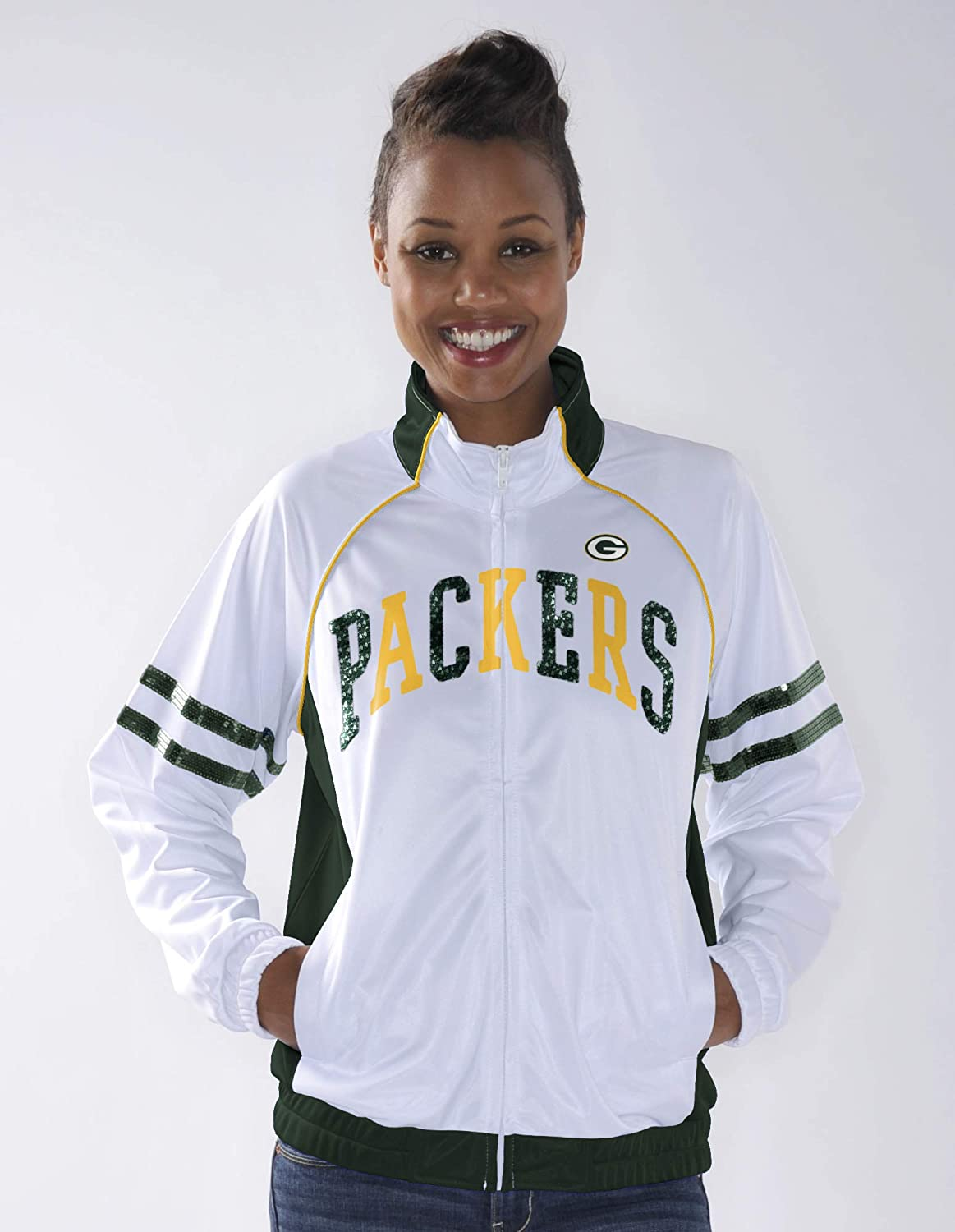 Amazon.com   G-III Sports Green Bay Packers Women s Rookie Full Zip Track  Jacket XX-Large   Sports   Outdoors 1c4cab0c1