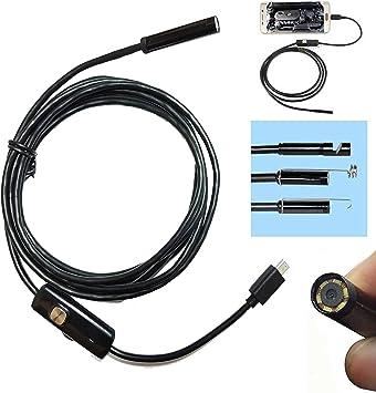 Opinión sobre Cámara endoscópica con luz, cable, sonda flexible, USB, para Android, inspección de hasta 3,5 metros