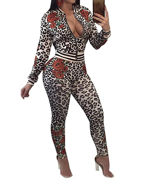 Amazon Com Iymoo 2 Piece Outfits Women Sexy Long Sleeve Floral