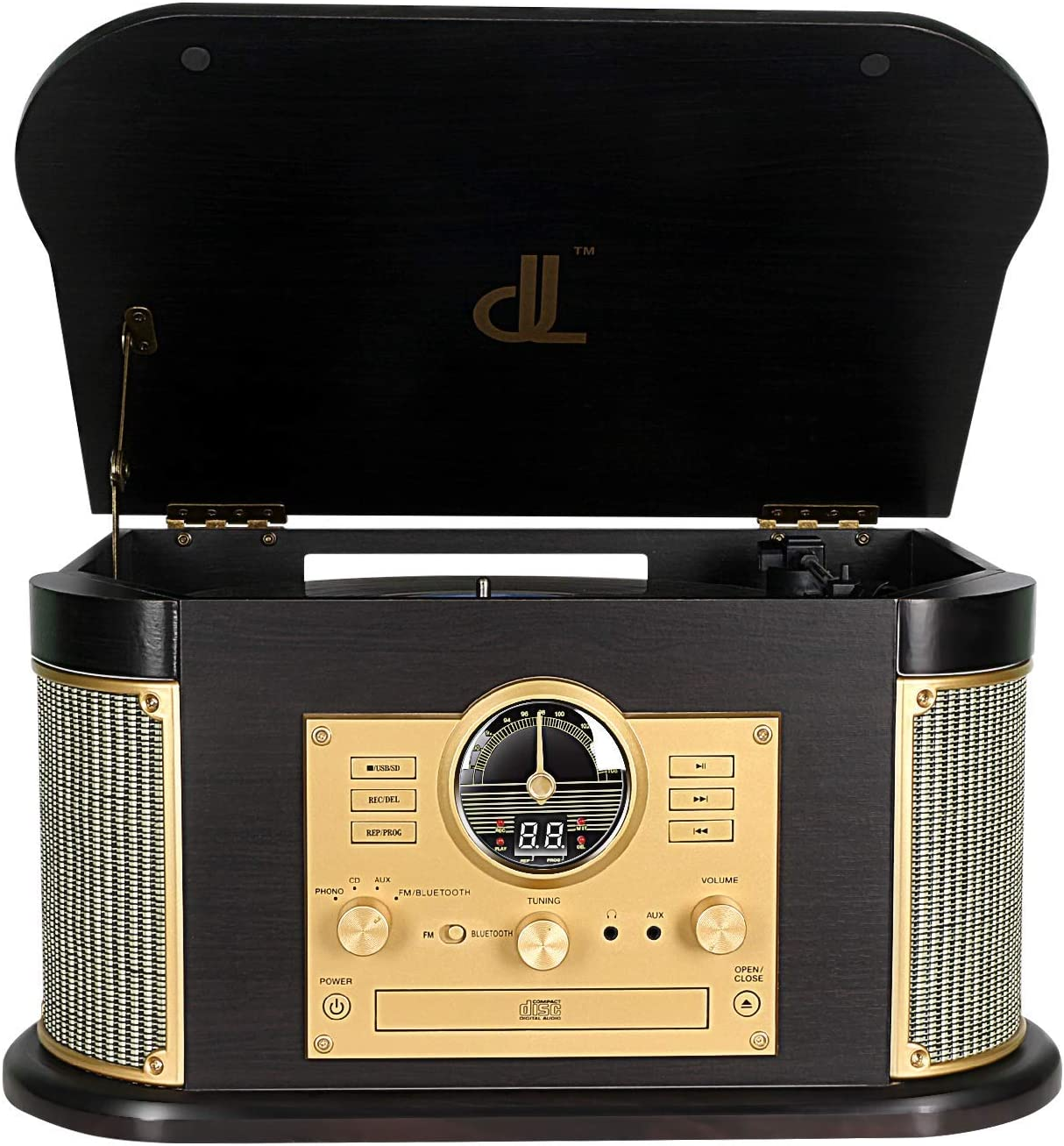 Plattenspieler Dlitime Bluetooth Record Player Mit Am Elektronik