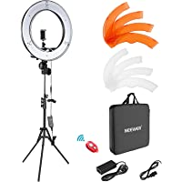 Neewer Camera Photo Video Light Kit: 18 Inches/48 Centimeters Outer 55W 5500K Dimmable LED Ring Light, Light Stand…