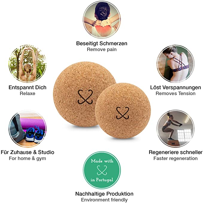 Corcho pelota de masaje con instrucciones gratis para automasaje ...