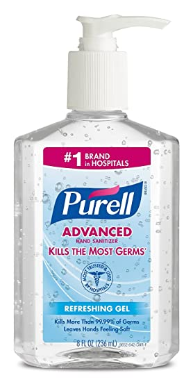 Amazon.com: PURELL 9606-24 Advanced Instant Hand Sanitizer, 2 Oz Personal Pump Bottle (Case of 24): Health & Personal Care