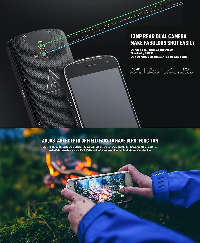 AGM X1 Robusto teléfono Snapdragon Octa núcleo de la cámara 13MP ...