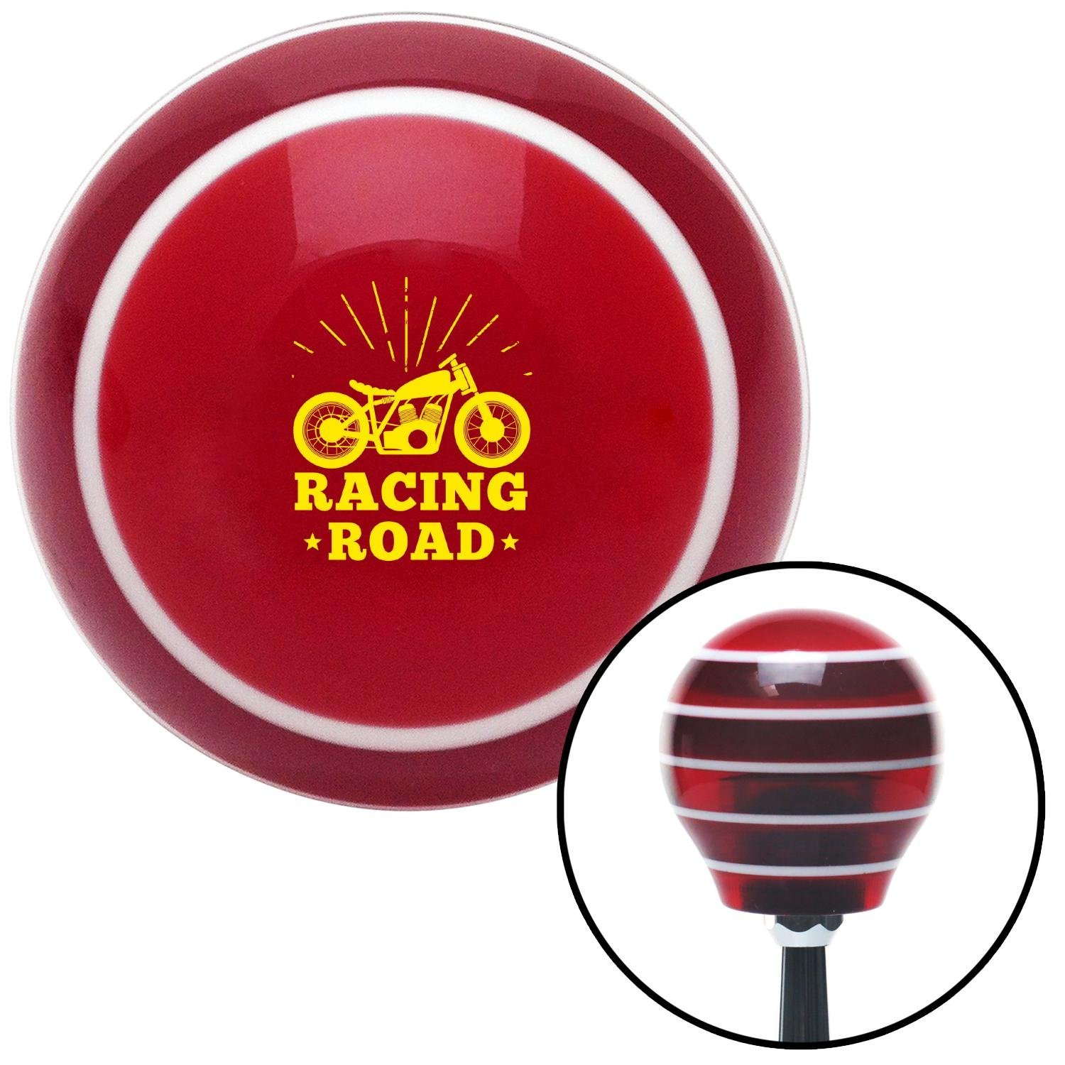 Red Officer 04 - Major and Lt. Colonel American Shifter 213915 Ivory Flame Shift Knob with M16 x 1.5 Insert
