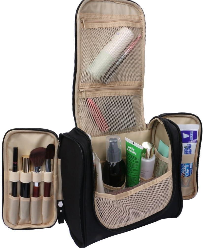 Esen-fa, estuche viajero para mujeres, ideal para organizar el maquillaje, artículos de tocador, etc., negro (Verde) - C0012: Amazon.es: Equipaje