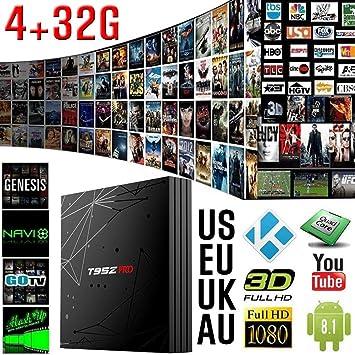 Android 8.1 TV Box, T95Z PRO Smart TV Box con ROM de 4GB y 32GB ROM