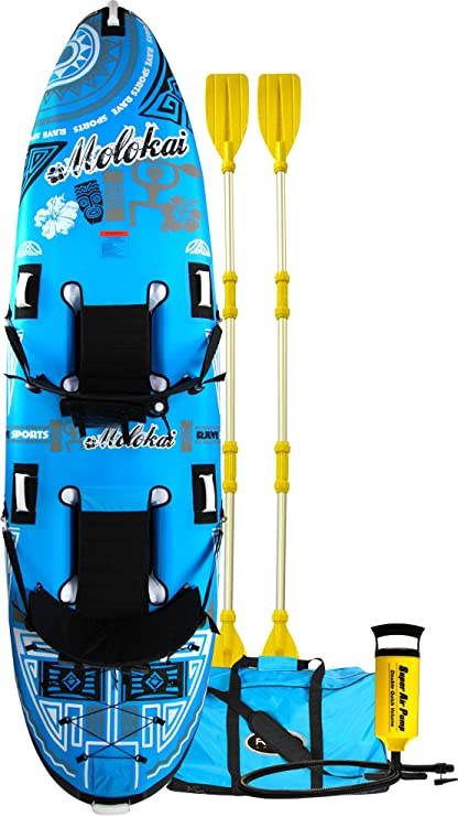 Amazon.com: RAVE Molokai Kayak (136 x 35 x 20,3 cm), color ...