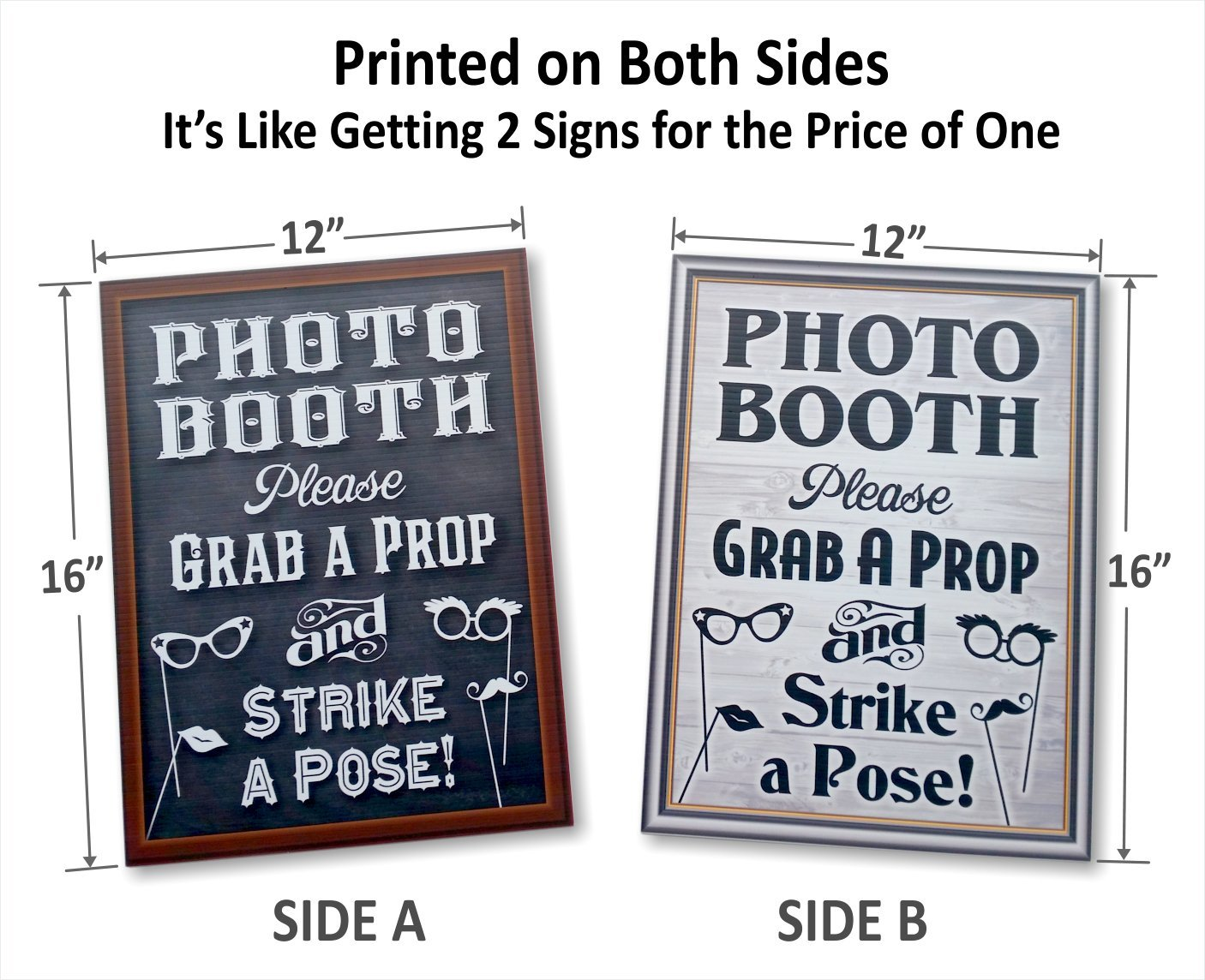 amazon com bigtime designs photo booth props sign 2 sided use
