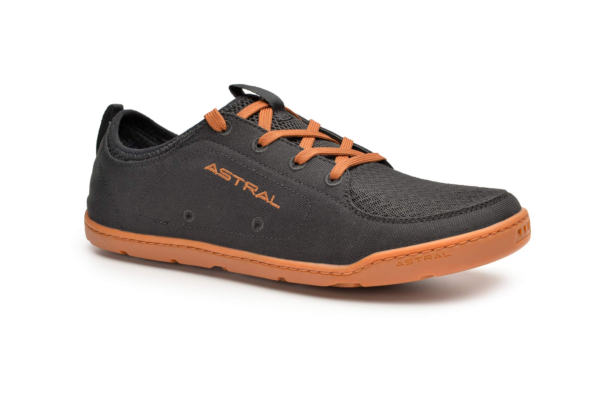 Astral Men's Loyak Everyday Outdoor Minimalist Sneakers, Lightweight and Flexible, Made for Water, Casual, Travel, and Boat, Black/Brown, 8 M US