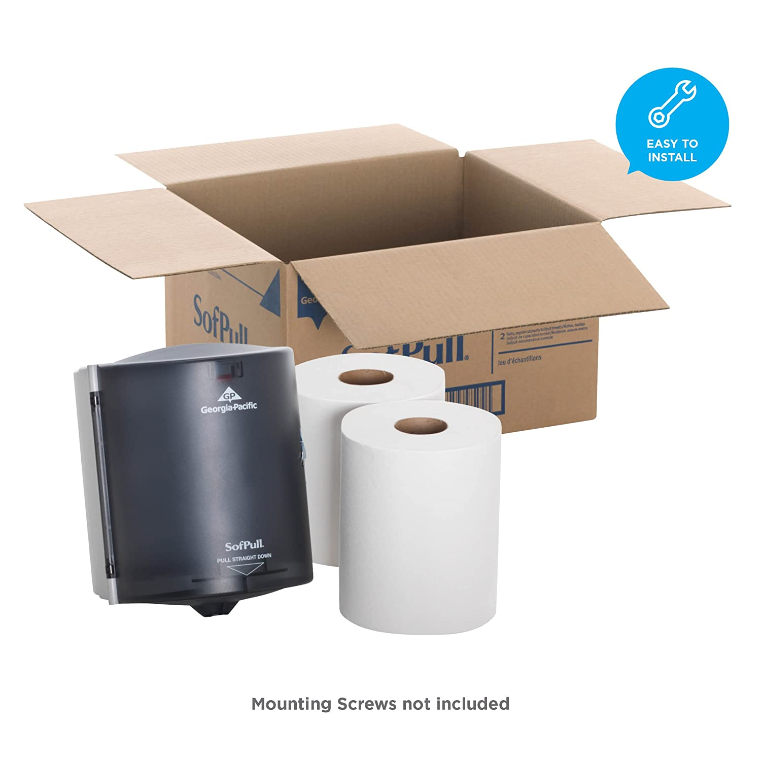 Georgia-Pacific SofPull 58205 Translucent Smoke Paper Towel Dispenser Trial Kit with 2 Rolls of Paper Towels by Georgia-Pacific: Amazon.es: Bricolaje y ...