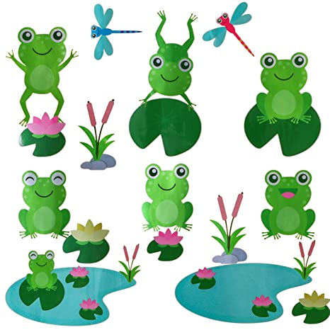 Home Décor Items Frogs Vinyl Wall Tile Stickers Decals Bathroom Home Decor