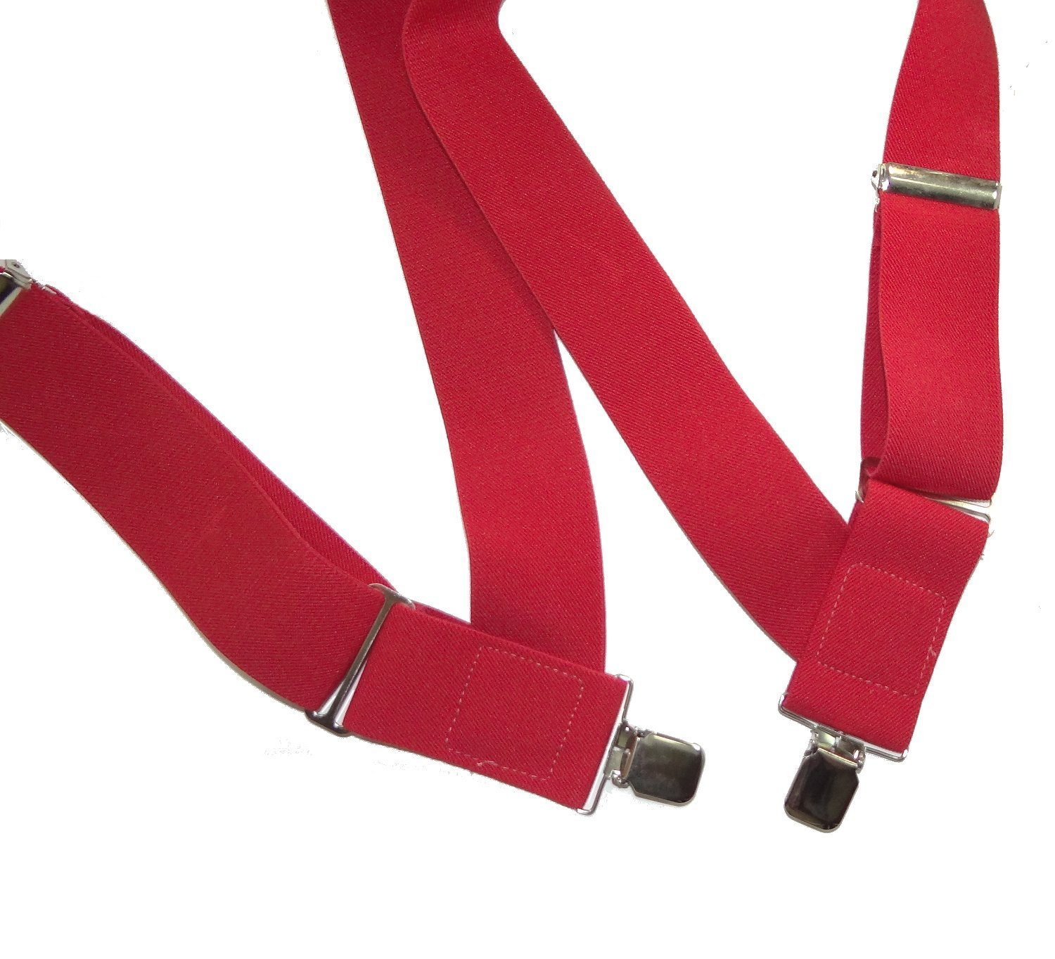 Holdup Hip-clip Trucker Style 2'' Wide Bright RED Side Clip Suspenders