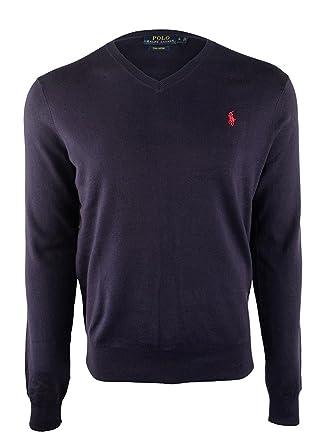 0165e35170c4ff Polo Ralph Lauren Men's Lightweight Pima Cotton V Neck Sweater at Amazon  Men's Clothing store: