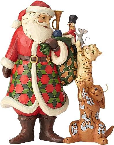 Enesco Santa with Stacked Animals