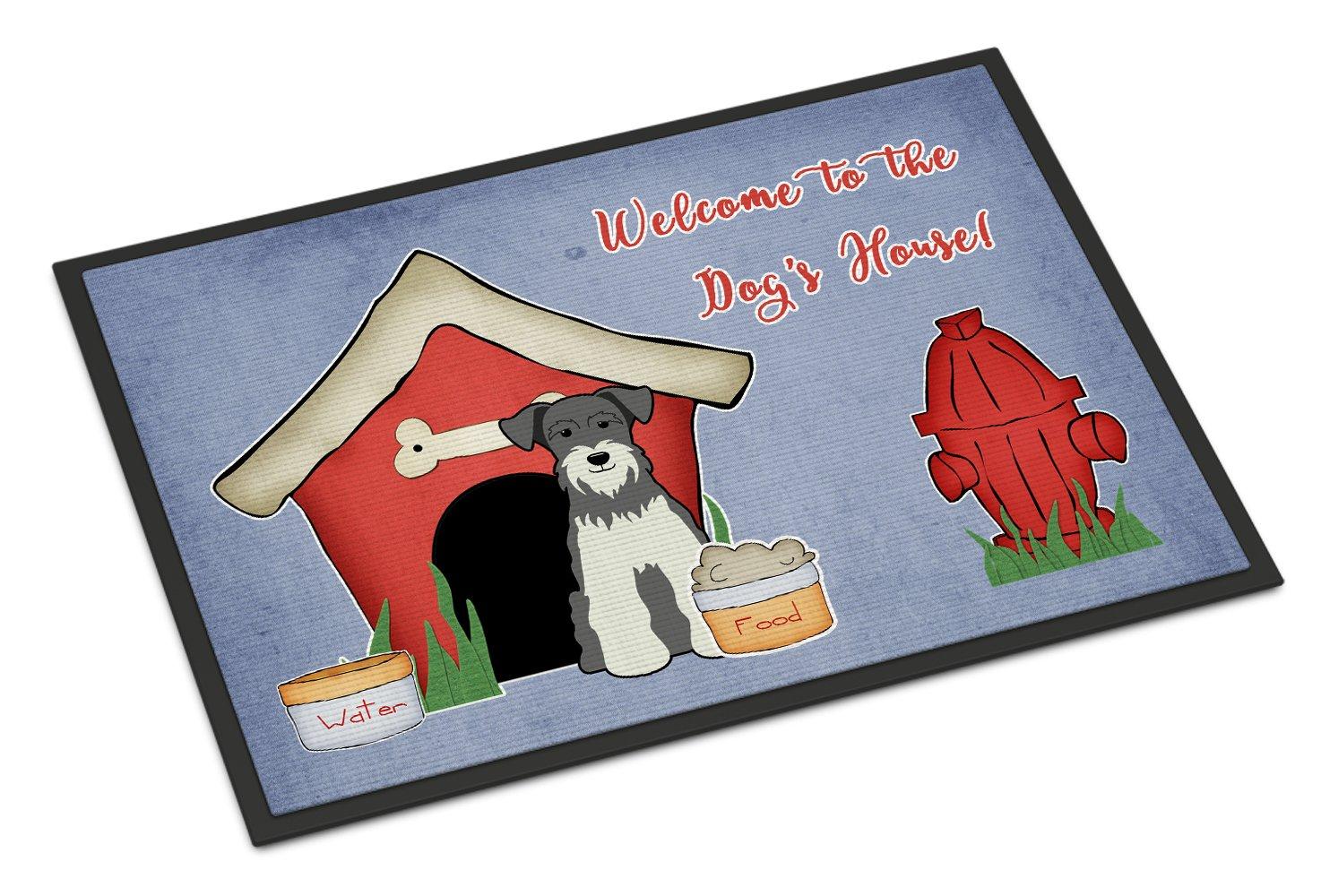 Carolines Treasures Dog House Collection Miniature Schanuzer Salt and Pepper Indoor or Outdoor Mat 18x27 BB2808MAT 18 x 27 Multicolor
