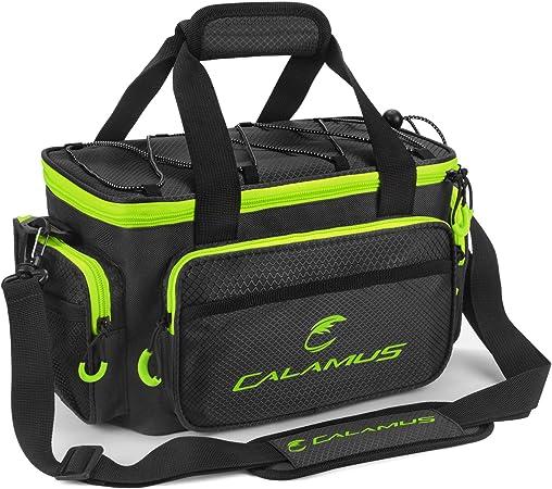 Calamus Fishing Tackle Bags - Fishing Bags for Saltwater or Freshwater Fishing - Rip-Stop PE - Padded Shoulder Strap - Pliers Storage