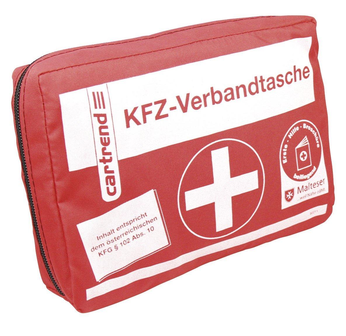 Cartrend 50211 Trousse de secours automobile Autriche, contenu conforme à la législation KFG 102 ABS 10 autrichienne contenu conforme à la législation KFG 102 ABS 10 autrichienne