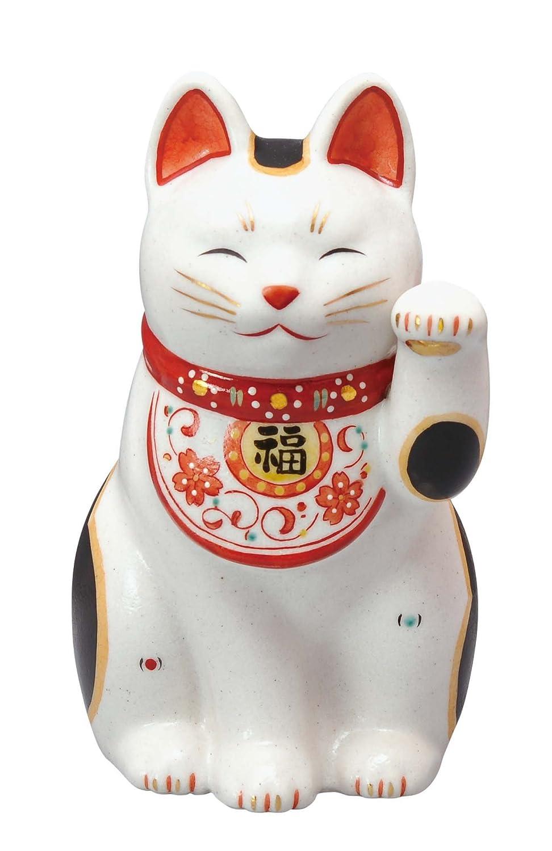 陶彩万福唐草招き猫(左手上げ大) AM-Y7440 B00TX0H1PA