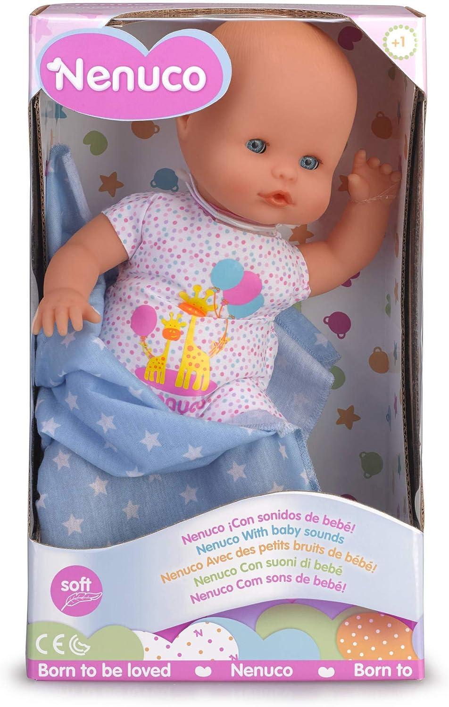 Nenuco- Recién Nacido Muñeco Infantil con Sonidos de Bebé, Color (Famosa 700015452)