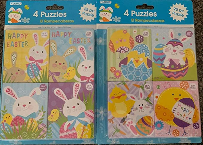 Toddler /& Kids of All Ages 300 Large Piece Jigsaw Puzzle Eggcellent for Easter Party Favors Plush Easter Basket for Baby