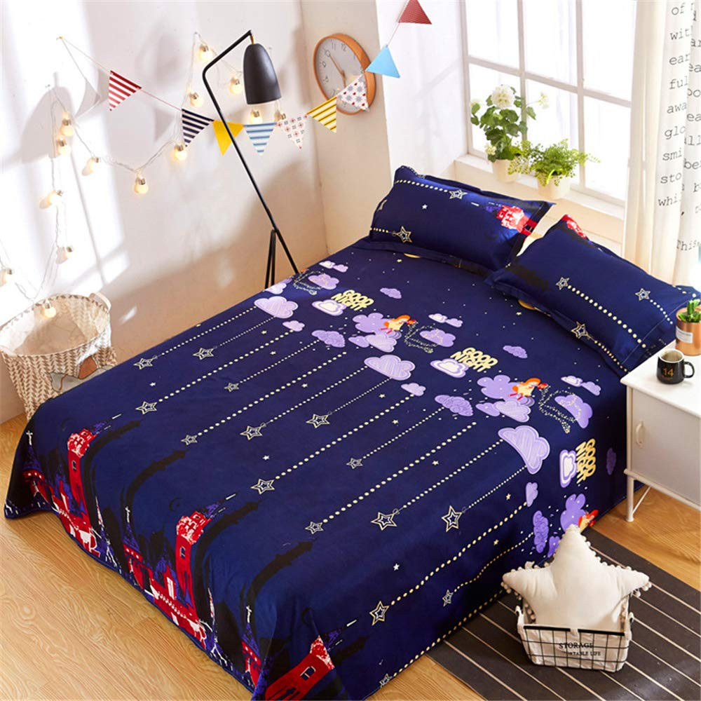 Single Single Bed is Single ice Silk 1.8 Meters 1.2 Summer one Meter Two Sheets Single Summer European and American Style bunk y City Night Sky 1.82.3m by iangbaoyo